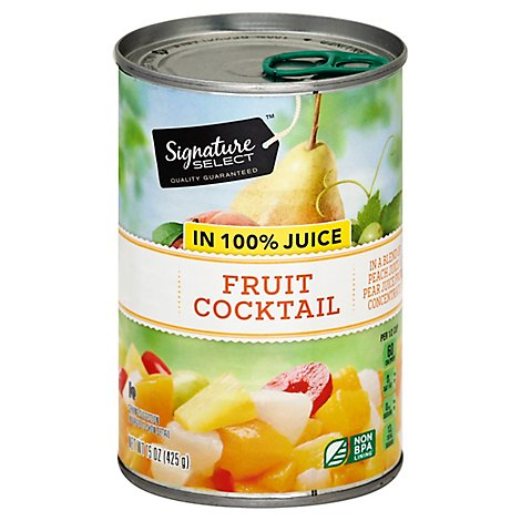 Signature SELECT Fruit Cocktail in 100% Juice Can - 15 Oz