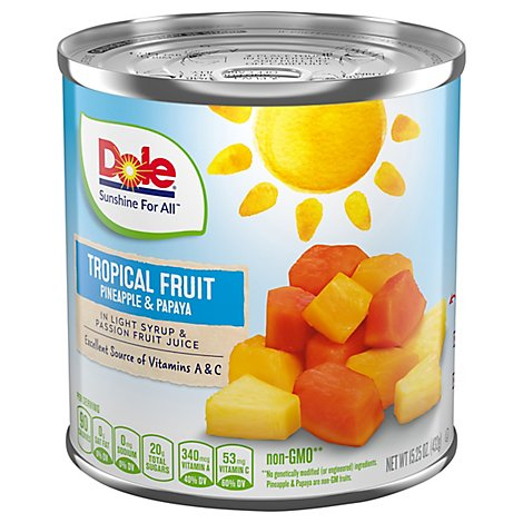 Dole Tropical Fruit in Light Syrup & Passion Fruit Juice - 15.25 Oz