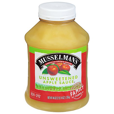 Musselmans Apple Sauce Unsweetened Natural - 46 Oz