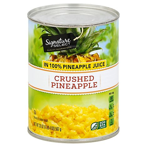 Signature SELECT Pineapple Crushed in 100% Pineapple Juice - 20 Oz