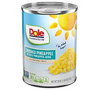 Dole Pineapple Crushed in 100% Pineapple Juice - 20 Oz