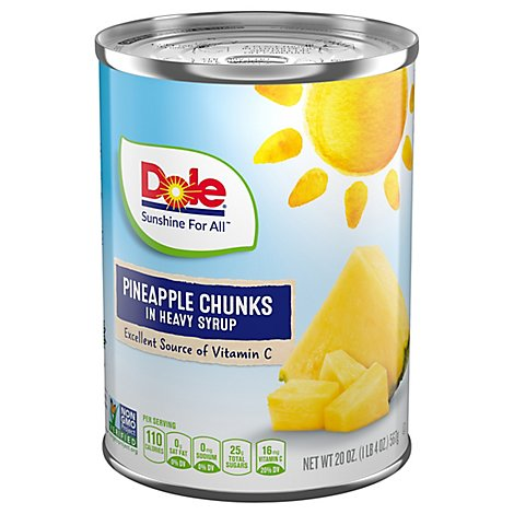 Dole Pineapple Chunks in Heavy Syrup - 20 Oz