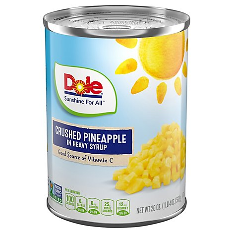 Dole Pineapple Crushed in Heavy Syrup - 20 Oz