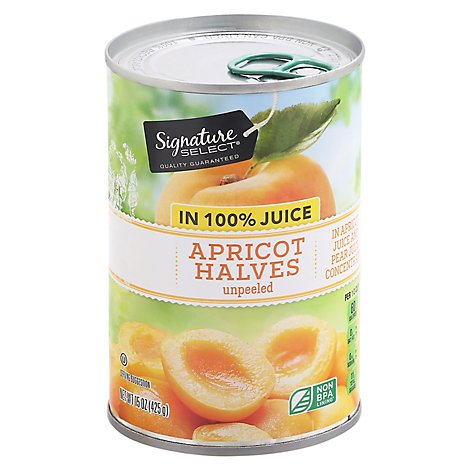 Signature SELECT Apricot Halves in 100% Juice - 15 Oz