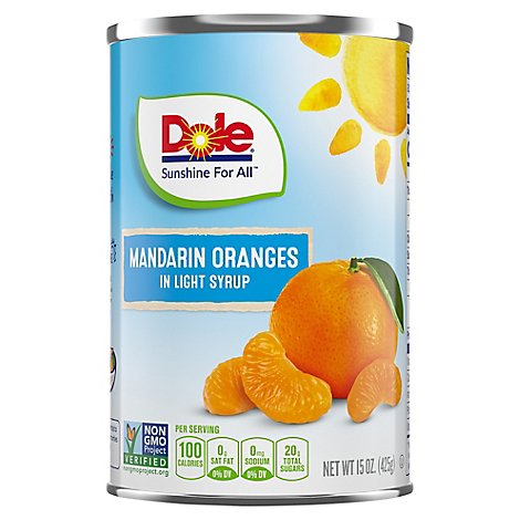 Dole Mandarin Oranges in Light Syrup - 15 Oz