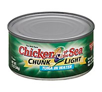 Chicken of the Sea Tuna Chunk Light in Water - 12 Oz