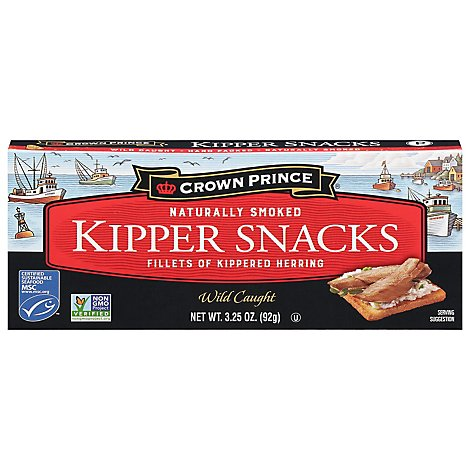 Crown Prince Kipper Snacks Naturally Smoked - 3.25 Oz