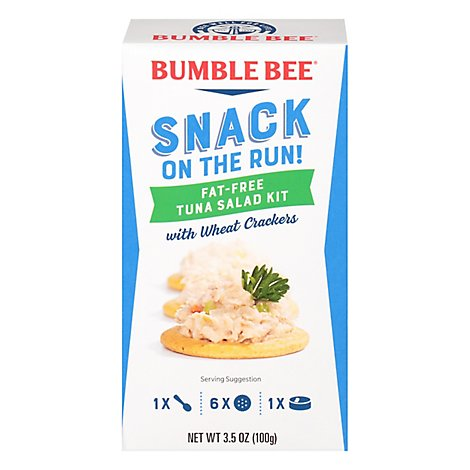 Bumble Bee Snack On The Run with Wheat Crackers Tuna Salad Fat-Free - 3.5 Oz