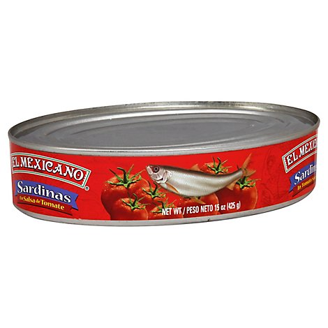 El Mexicano Sardines In Tomato Sauce Can - 15 Oz