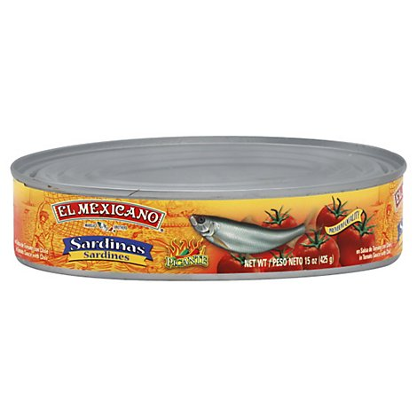 El Mexicano Sardines Picante Can - 15 Oz