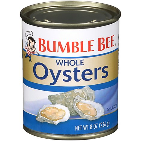 Bumble Bee Oysters Premium Select Fancy Whole - 8 Oz