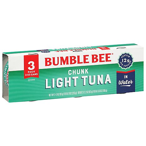 Bumble Bee Tuna Chunk Light in Water - 3-3 Oz
