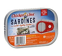 Chicken of the Sea Sardines Lightly Smoked in Oil - 3.75 Oz
