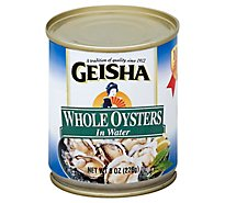 Geisha Oysters in Water Whole - 8 Oz