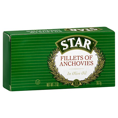 Star Fillets Of Anchovies in Olive Oil - 2 Oz