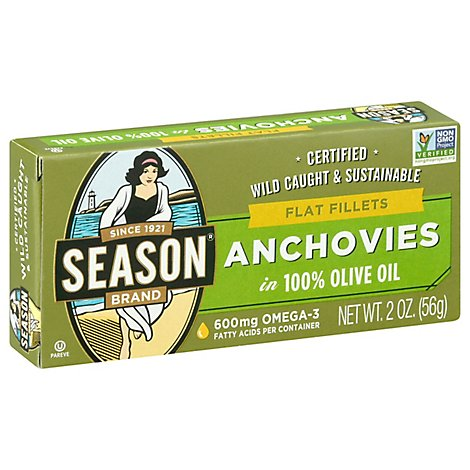 Season Anchovies Flat - 2 Oz