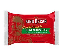 King Oscar Sardines in Extra Virgin Olive Oil Double Layer Omega-3 - 3.75 Oz