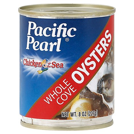 Pacific Pearl Oysters Whole Cove - 8 Oz