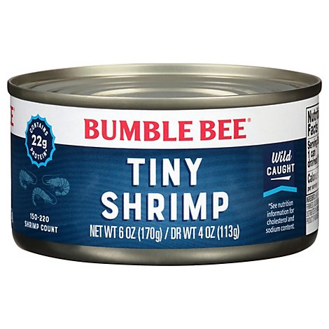Bumble Bee Shrimp Premium Select Tiny - 4 Oz