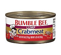 Bumble Bee Crabmeat Premium Select Wild Fancy Lump - 6 Oz