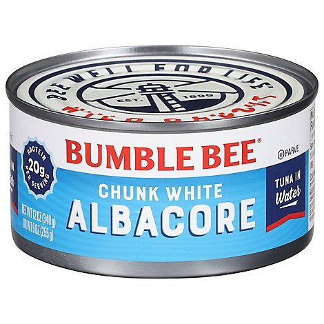 Bumble Bee Tuna Albacore Chunk White in Water - 12 Oz