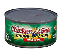 Chicken of the Sea Chunk Light Tuna in Oil Chunk Style - 12 Oz