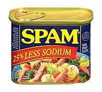 SPAM Classic 25% Less Sodium - 12 Oz