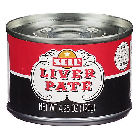 Sells Pate Liver - 4.25 Oz