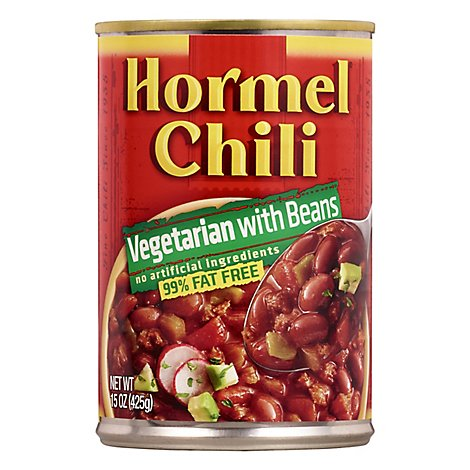 Hormel Chili Vegetarian with Beans 99% Fat Free - 15 Oz