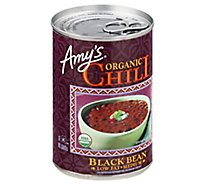 Amys Chili Organic Medium Low Fat Black Bean - 14.7 Oz