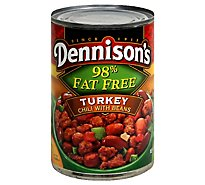 Dennisons Chili with Beans Turkey 98% Fat Free - 15 Oz