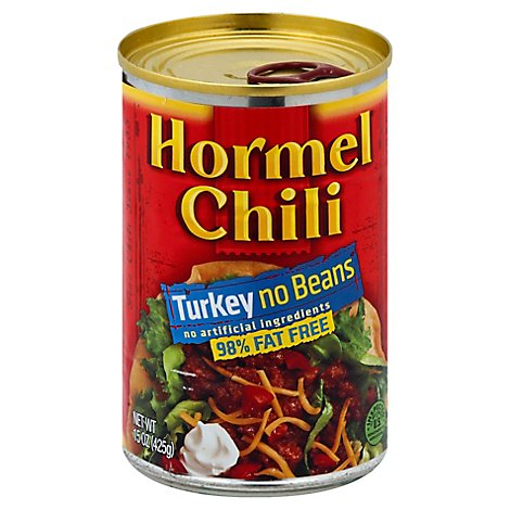 Hormel Chili Turkey No Beans 98% Fat Free - 15 Oz