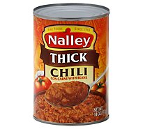 Nalley Chili Con Carne with Beans Thick - 14 Oz