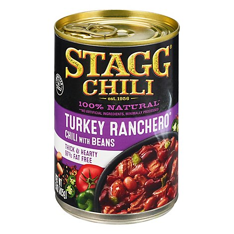 Stagg Chili With Beans Turkey Ranchero 97% Fat Free - 15 Oz