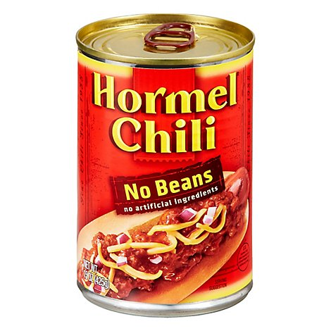 Hormel Chili No Beans Can - 15 Oz