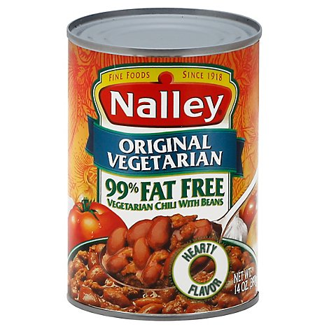 Nalley Chili Vegetarian with Beans 99% Fat Free Original Vegetarian - 14 Oz
