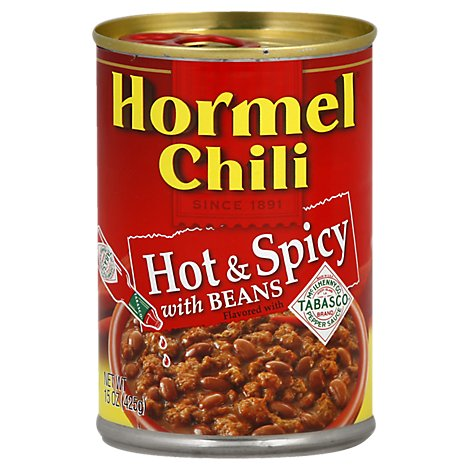 Hormel Chili Hot & Spicy with Beans - 15 Oz