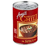 Amys Chili Organic Spicy - 14.7 Oz