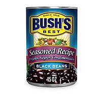 BUSHS BEST Beans Black Seasoned Recipe - 15 Oz