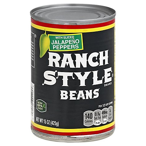 Ranch Style Beans With Sliced Jalapeno Peppers - 15 Oz