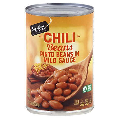 Signature SELECT Beans Pinto Chili Beans In Mild Chili Sauce - 15 Oz