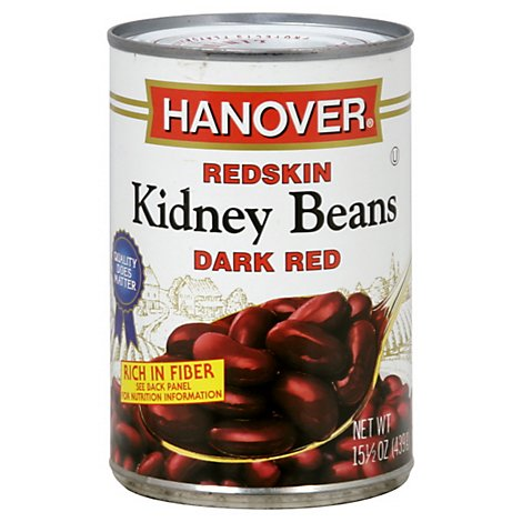 Hanover Beans Kidney Redskin Dark Red - 15.5 Oz