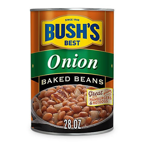 BUSHS BEST Beans Baked Onion - 28 Oz