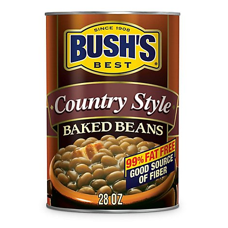 BUSHS BEST Beans Baked Country Style Can - 28 Oz