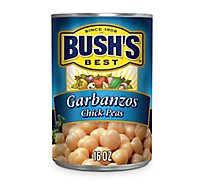 Bushs Peas Chick Garbanzos - 16 Oz