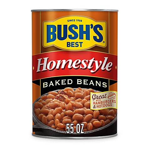 BUSHS BEST Beans Baked Homestyle 98% Fat Free - 55 Oz
