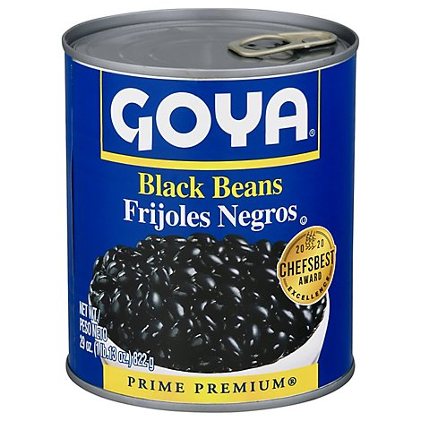 Goya Beans Black Premium Can - 29 Oz