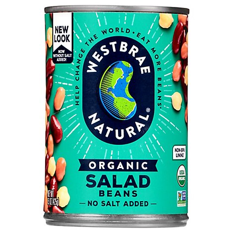 Westbrae Natural Organic Beans Salad Low Sodium Can - 15 Oz