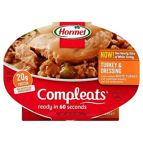 Hormel Compleats Microwave Meals Homestyle Turkey & Dressing - 10 Oz