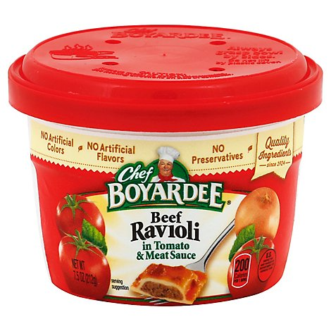 Chef Boyardee Pasta Mini Ravioli Beef in Tomato & Meat Sauce - 7.5 Oz